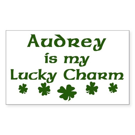 Audrey - lucky charm Rectangle Sticker