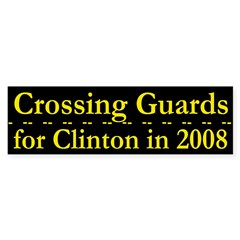Crossing Guards for Clinton car sticker