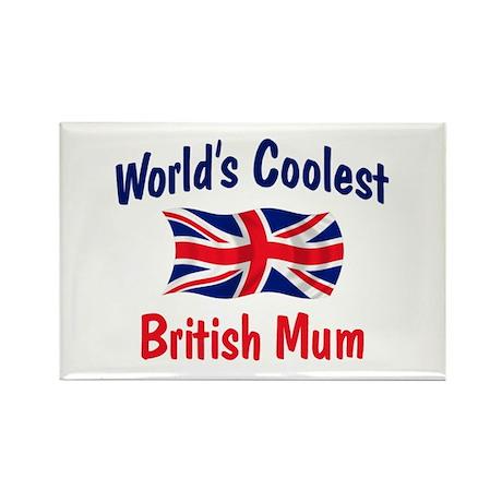 Coolest British Mum Rectangle Magnet