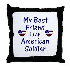 Best Friend/Soldier Throw Pillow