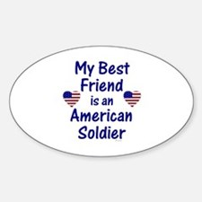 Best Friend/Soldier Oval Decal