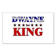 DWAYNE for king Rectangle Decal
