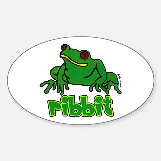 Ribbit Frog Oval Decal