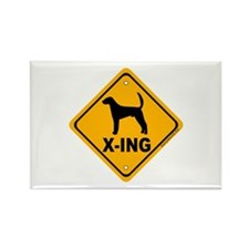Foxhound X-ing Rectangle Magnet (10 pack)
