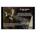 Sir Isaac Newton: Gravity Large Poster