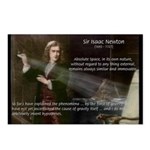 Sir Isaac Newton: Gravity Postcards (Package of 8)