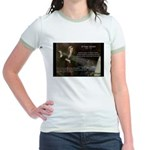 Sir Isaac Newton: Gravity Jr. Ringer T-Shirt