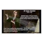 Sir Isaac Newton: Gravity Rectangle Sticker