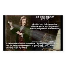 Sir Isaac Newton: Gravity Rectangle Decal