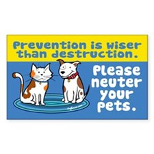 Prevention is Wiser Rectangle Decal