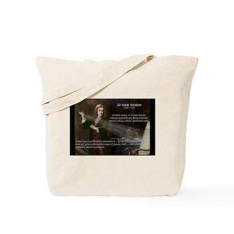 Sir Isaac Newton: Gravity Tote Bag