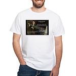 Sir Isaac Newton: Gravity White T-Shirt