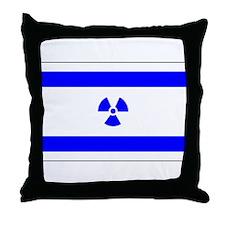 Radioactive Israel Throw Pillow