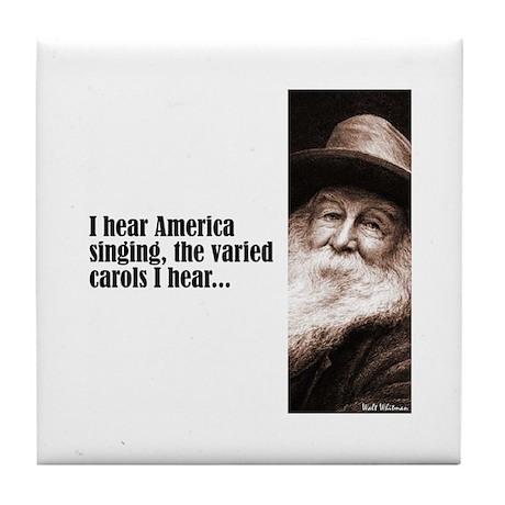 """Whitman """"America Singing"""" Tile Coaster"""