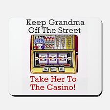 Slot playing grandma's Casino Theme Mousepad