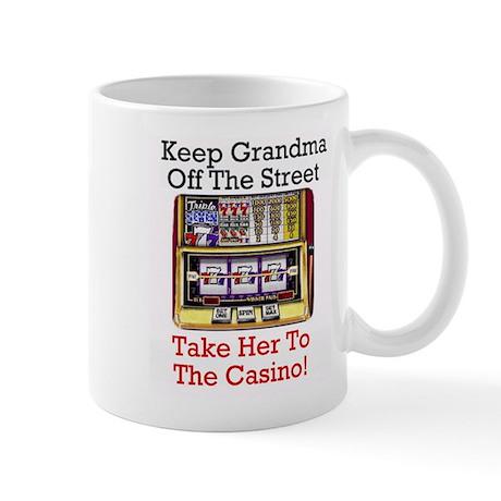Grandma's Lucky Casino Mug - Great Gift idea!