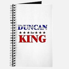 DUNCAN for king Journal