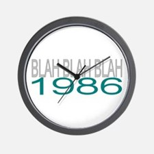 BLAH BLAH BLAH 1986 Wall Clock
