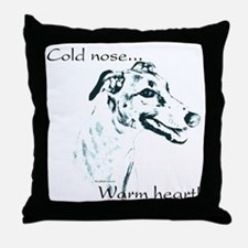 Greyhound Warm Heart Throw Pillow
