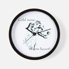 Greyhound Warm Heart Wall Clock
