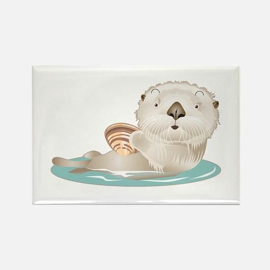 Baby Otter Rectangle Magnet