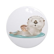 Baby Otter Ornament (Round)