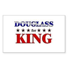 DOUGLASS for king Rectangle Decal