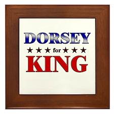 DORSEY for king Framed Tile