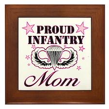 Proud Infantry Mom Framed Tile
