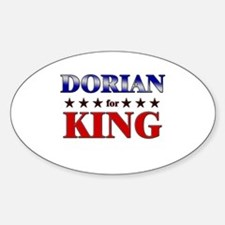 DORIAN for king Oval Decal