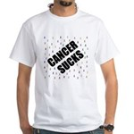 cancer sucks many ribbons White T-Shirt