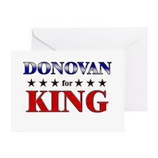 DONOVAN for king Greeting Card