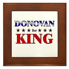 DONOVAN for king Framed Tile