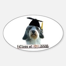 PBGV Grad 08 Oval Decal