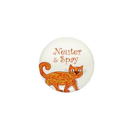 Neuter & Spay (Orange Cat) Mini Button (10 pack)
