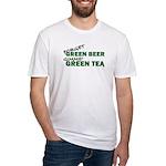 GREEN TEA Fitted T-Shirt
