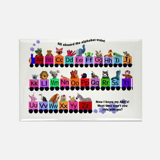 Alphabet Train Rectangle Magnet (100 pack)
