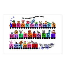 Alphabet Train Postcards (Package of 8)