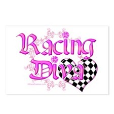 Racing Diva Pink Postcards (Package of 8)