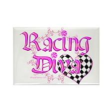 Racing Diva Pink Rectangle Magnet
