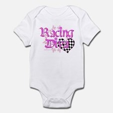 Racing Diva Pink Infant Bodysuit