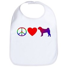 Peace Love Shar-Pei Bib