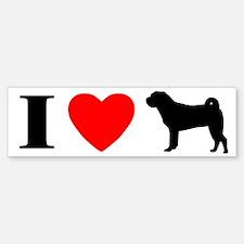 I Love Chinese Shar Peis Bumper Bumper Bumper Sticker