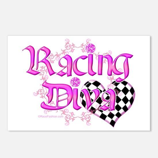Racing Diva Orange Postcards (Package of 8)