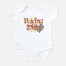 Racing Diva Orange Infant Bodysuit