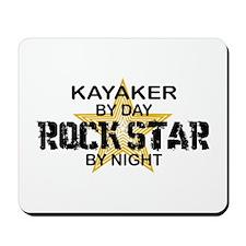 Kayaker Rock Star Mousepad