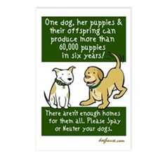 Sixty Thousand Dogs - Spay Ne Postcards (Package o