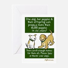 Sixty Thousand Dogs - Spay Ne Greeting Cards (Pk o