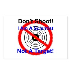 I Am A Scientist Not A Target Postcards (Package o