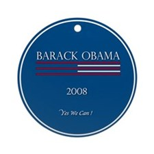 Unique Michelle and barack Ornament (Round)